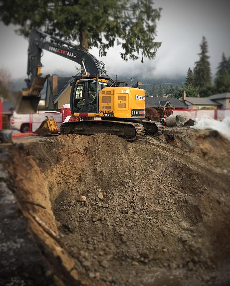 drain excavation work